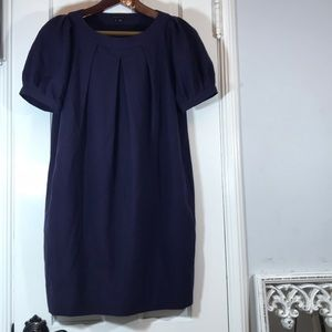 Theory short sleeve dress purple/blue color